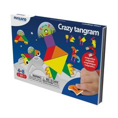 Miniland 35221 On The Go Crazy Tangram, Multi-Color Puzzle Toys, Going Crazy, Playing Cards, Games, Amazon, Diy, Travel, Color, Viajes
