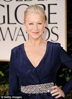 Aging gracefully - Helen Mirren looks amazing.