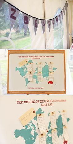 map table plan, wedding, image by Haywood Jones Photography