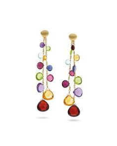 Marco Bicego Paradise Long Degrade Drop Earrings with Mixed Elevated Gemstones ShLBIV8