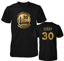 Golden State Warriors Stephen Curry Gold Print Jersey Men s T Shirt Golden  State T Shirt 18e665443