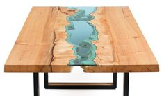 These Tables From Greg Klassen's River Collection Look Like Intricate Topographic Maps |