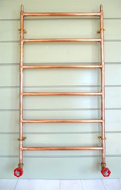 Heated Copper Towel Rail copper radiator £275 from Whiteway Workshop, Etsy, UK (promoted link)