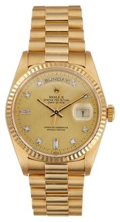 Rolex Day-Date 18K YG & Custom Diamond Dial 36mm.. Get the lowest price on Rolex Day-Date 18K YG & Custom Diamond Dial 36mm. and other fabulous designer clothing and accessories! Shop Tradesy now