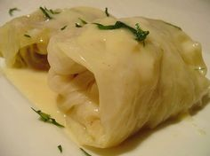 Stuffed Cabbage with Egg Lemon Sauce (Greek Lahanodolmades Avgolemono) by Elly Says Opa, via Flickr