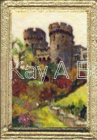 Castle Gatehouse Miniature Paintings, Castle, Miniatures, Artist, Pictures, Photos, Artists, Photo Illustration, Mockup