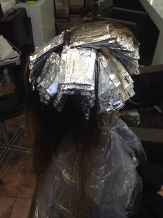 Work in process! Finished half head of foils!
