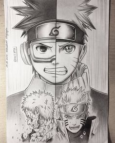 Desenho Obito Uchiha e Naruto Uzumaki Naruto Shippuden Sasuke, Naruto Kakashi, Anime Naruto, Fan Art Naruto, Manga Anime, Art Anime, Otaku Anime, Boruto, Konoha Naruto