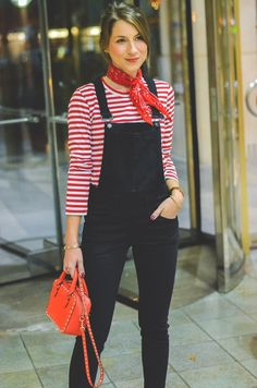 c9a8702ab6c7 OUTFIT DIE SCHWARZE LATZHOSE - I was wearing a red striped shirt from comme  des garçons