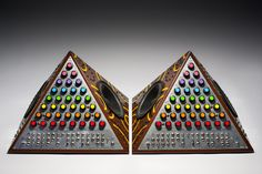 Pyramid synthesizers by David Cranmer and Pete Fowler