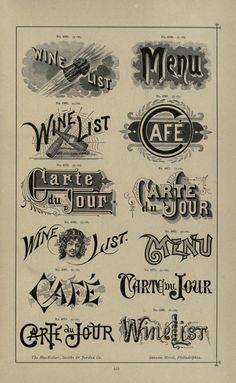 Specimens of printing types