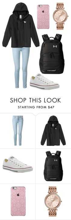 """""""school outfit"""" by fashionblogger2122 on Polyvore featuring Frame Denim, Victoria's Secret, Converse, Under Armour and MICHAEL Michael Kors"""