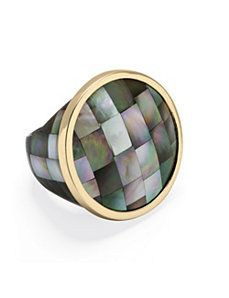 Black Mother-Of-Pearl Ring by PalmBeach Jewelry