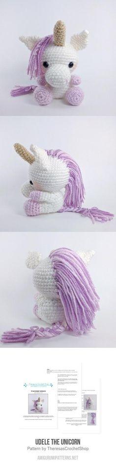 Udele the Unicorn amigurumi pattern