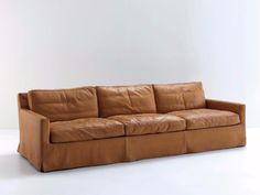 Upholstered 3 seater leather sofa COUSY | Leather sofa by arflex
