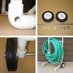 HOME DZINE Garden Ideas | Mobile cart for garden hose