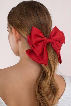 Haar # Station Haarschmuck Tis The Season Bow Tie Hai Red Hair Ties, Bow Tie Hair, Red Bow Tie, Diy Hair Bows, Ribbon Hair, Red Bows, Bow Hair Clips, Red Hair Accessories, Diy Accessoires