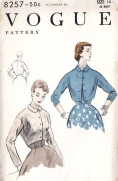 1950s Misses Easy to Make Jacket Bolero by MissBettysAttic, $15.00