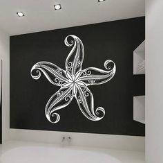 Wall Vinyl Sticker Decals Mural Room Design Pattern Art Sea Star Ocean Shell  Starfish 442 by StickerLoveDecal on Etsy