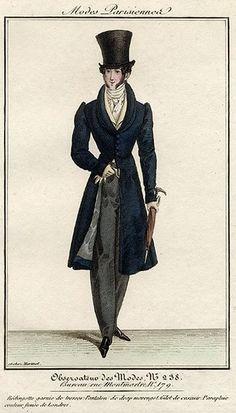 Men's ensemble, 1822.