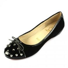 Cheap Christian Louboutin Studded Zipper Ballet Flats Black Sale : Christian Louboutin$187.87