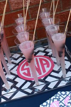 preppy party: love all the monograms