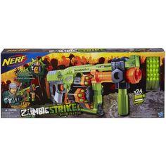Excellent Nerf Zombie Strike Slingfire Blaster Gun Darts Bundle Shotgun