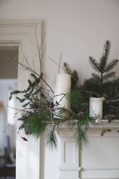 mantle greenery