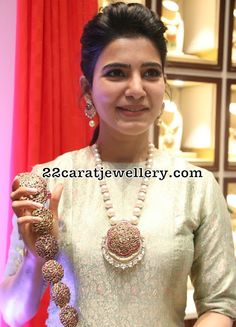 Samantha at Nac Jewellers Indian Jewellery Design, Bead Jewellery, Beaded Jewelry, Jewellery Designs, Pearl Jewelry, Latest Jewellery, Silver Jewellery, Crystal Jewelry, Couple Jewelry
