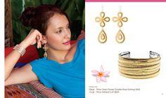 earrings and bracelet model