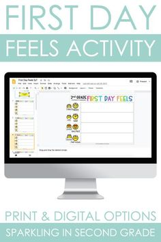 First Day Feels is a first day of school activity for back to school season. Students share how they feel about the first day of school. Digital and printable pieces included for any elementary classroom. Easy to implement during distance learning too.