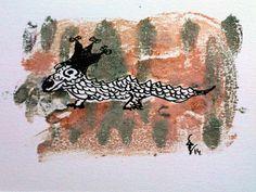 El Samurio pintó al Dragón Azul en un talismán de protección para Lago de Estrellas.