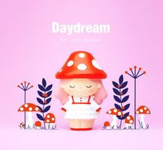 Doll design for Momiji. Cute Easy Animal Drawings, Momiji Doll, Cherry Baby, Mascot Design, Vinyl Toys, Cute Toys, Blythe Dolls, Daydream, Action Figures