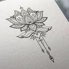 Lotus Flower Tattoo Design - MND2