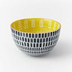 Mid-Century Printed Bowls #westelm