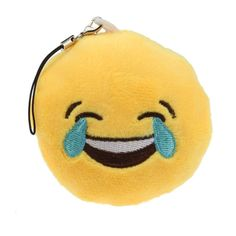 Tenworld Amusing Toy Gift Emoji Emoticon Key Chain Pendant Bag Accessory Hot (C). Material: Poly Propylene. Size: about 7*7*3cm. It's a fashion cute keychain,bag accesoories, Emoticon cushion design, very unique. The Emoticon cushion is made of thick plush which is extremely soft and comfortable. A wonderful gift. Catch His/Her Eyes From Now On.