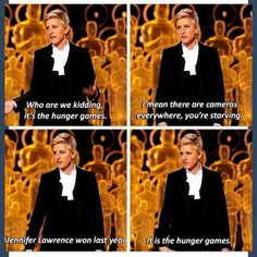 Ellen at the Oscars