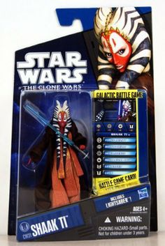 Star Wars 2010 Clone Wars Animated Action Figure CW No. 31 Shaak Ti by Hasbro Toys. $15.99. Star Wars 2010 Clone Wars Animated Action Figure CW No. 31 Shaak Ti. Shaak Ti was a female Togruta Jedi Master, hailing from the planet Shili, who replaced Yaddle as a member of the Jedi High Council in 26 BBY. Indeed, Master Ti was one of the last remaining members of the Jedi Council, serving before, during and after the Clone Wars.