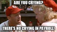 """""""there's no crying in baseball!"""" - Tom Hanks in """"A League of their own"""" No Crying In Baseball, Basketball Uniforms, Basketball Court, Basketball Legends, Basketball Leagues, Calendar Girls, Movie Lines, Babe Ruth, Great Tv Shows"""