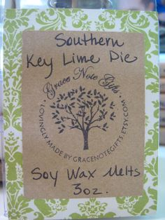 {New Look!} Soy Wax Tarts Hand Poured Southern KEY LIME PIE by gracenotegifts, $3.50