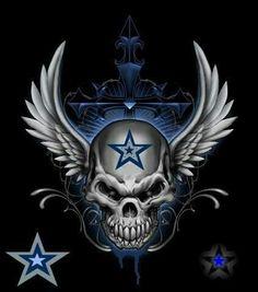 'Winged Head Of Death' by Dallas Cowboys Tattoo, Dallas Cowboys Wallpaper, Dallas Cowboys Pictures, Dallas Cowboys Shirts, Dallas Cowboys Football, Football Memes, Cowboys Players, Football Signs, Football Baby