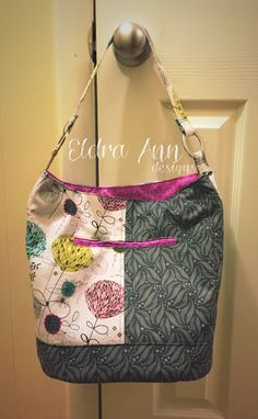 Poppy and feathers bucket bag by eldraanndesigns on Etsy