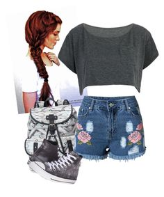 """""""Untitled #87"""" by rosmary-jb ❤ liked on Polyvore featuring Candie's and Converse"""