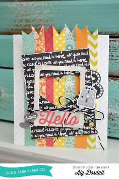 *Echo Park Paper* Hello Card - Scrapbook.com - Made with Echo Park products.