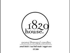 White and Black. Clean. Fresh. Logo 1820 Candles