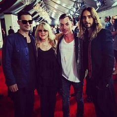 Thirty Seconds to Mars and Stevie Nicks at the Grammy Awards, Great Bands, Cool Bands, Thirty Seconds, 30 Seconds, Grammy 2014, Stevie Nicks Fleetwood Mac, Shannon Leto, Jared Leto, Best Songs