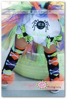 Baby Halloween Costume Bloomers Custom Diaper Covers for Little Girls. $23.95, via Etsy.