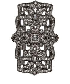 Stone Black Gold Diamond Gatsby Ring