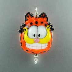 Lampwork Cat Glass Pendant  by PuddyTatGlass
