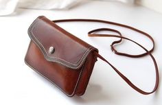 Retro leather shoulder bag,little leather bag,handmade leather goods,leather crossbody bag Brown Leather Backpack, Brown Leather Totes, Leather Crossbody Bag, Leather Shoulder Bag, Shoulder Bags, Leather Backpacks, Cow Leather, Leather Bags Handmade, Handmade Bags